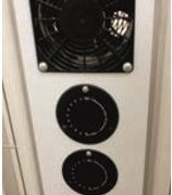 Cabinet twin timers and fan